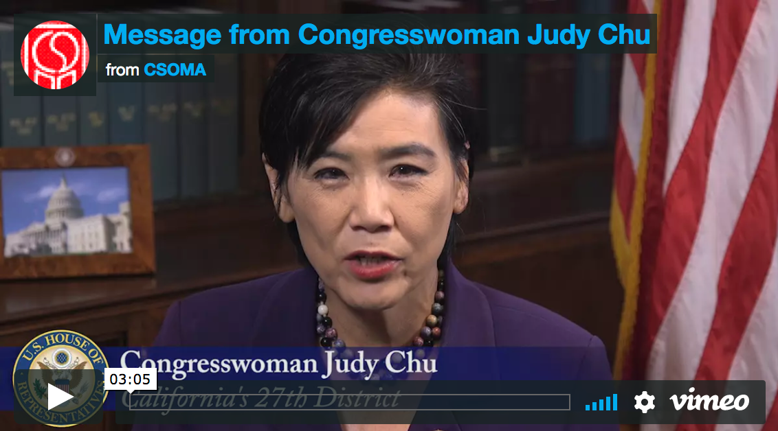 Judy Chu Endorses Access to Acupuncture