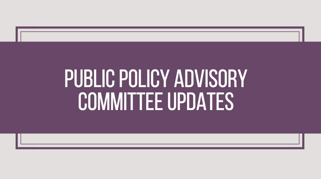 Public Policy Advisory Committee Updates – September 2017