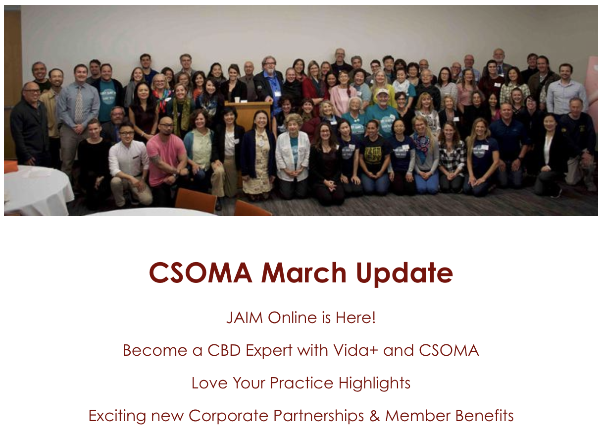 March 2019 CSOMA News