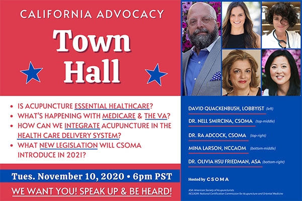 Acupuncture Advocacy Town Hall